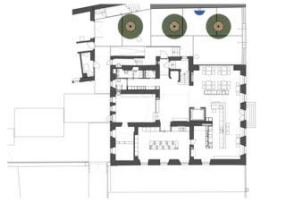 Erdgeschoss Maison de l'Absinthe von Atelier d'Architecture Manini Pietrini Sàrl