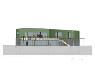 Südfassade Pavillon Altdorf von CAS Architektur AG