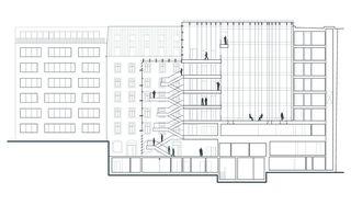 Längsschnitt HSBC Private Bank von Itten+Brechbühl SA