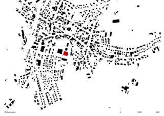 Schwarzplan Erweiterungsneubau Orientierungsschule Kerzers von Morscher Architekten BSA SIA AG