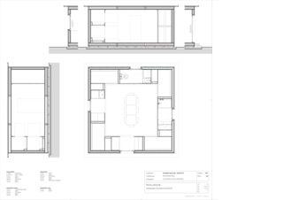 Plans, Coupes 1:25 INTEGRO PAVILLON - KOSTENGÜNSTIGE FLÜCHTLINGSUNTERKUNFT de 3C Architektur GmbH