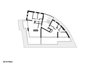 Plan de l'attique Immeuble d'habitation Minergie P Solaris de Savioz