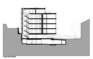 Querschnitt Immeuble d'habitation Minergie P Solaris von Savioz