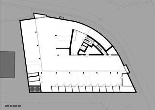 Plan du sous-sol Immeuble d'habitation Minergie P Solaris de Savioz