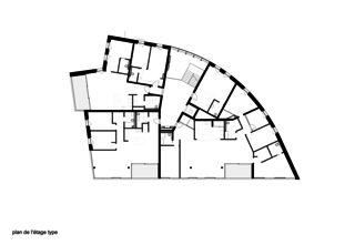 Obergeschoss Immeuble d'habitation Minergie P Solaris von Savioz