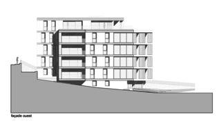 Westfassade Immeuble d'habitation Minergie P Solaris von Savioz