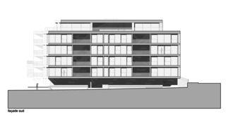 Façade sud Immeuble d'habitation Minergie P Solaris de Savioz