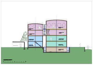 Querschnitt Wohnloft im Silo 8 von Atelier Fred Wittwer