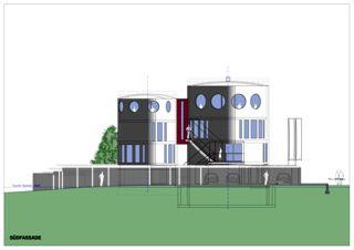 Südfassade Wohnloft im Silo 8 von Atelier Fred Wittwer
