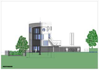 Westfassade Wohnloft im Silo 8 von Atelier Fred Wittwer