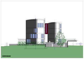 Nordfassade Wohnloft im Silo 8 von Atelier Fred Wittwer