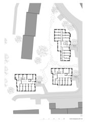 Eingangsgeschoss 1:200 Wohnüberbauung Steinbrüchelstrasse von ADP Architektur Design Planung AG