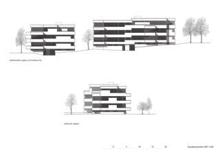 Ansichten 1:200 Wohnüberbauung Steinbrüchelstrasse von ADP Architektur Design Planung AG