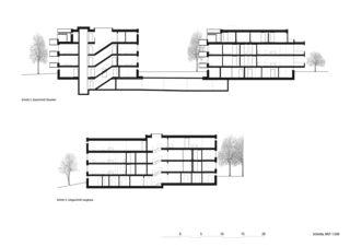 Schnitte 1:200 Wohnüberbauung Steinbrüchelstrasse von ADP Architektur Design Planung AG