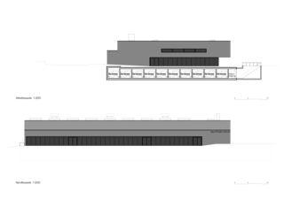 West- und Nordfassade Neubau Sporthalle Arbon von keiserwerk ag
