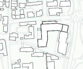 Situationsplan Cycle d'orientation et école préprofessionnelle  von Architectes EPFL FAS SIA<br/>