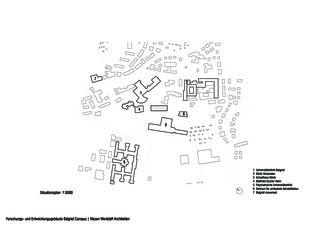 Lageplan Balgrist Campus Forschungs- und Entwicklungsgebäude Balgrist Campus von Nissen & Wentzlaff Architekten BSA SIA AG