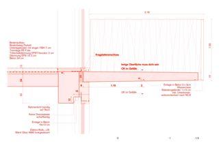 Detailschnitt Umnutzung Lukas-Kapelle Bern von Morscher Architekten BSA SIA AG