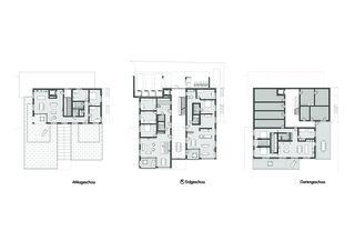 Plans Wohnprojekt Orangerie de Eglin Schweizer Architekten