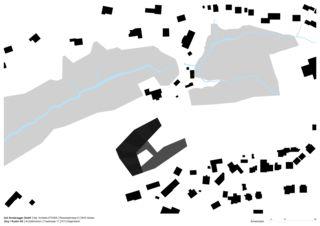 Plan de masse Neubau Wohnheim Sonne Rehetobel AR de Dipl.Architekt ETH/SIA<br/>