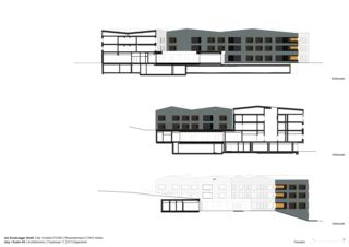 Façades sud / est  Neubau Wohnheim Sonne Rehetobel AR de Dipl.Architekt ETH/SIA<br/>