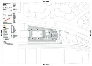 Situationsplan Complexe Bel-Air von CCHE Lausanne SA