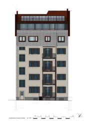 Ansicht Hoffassade Wohnhaus Apollostrasse  von Andreas Meier Architekt