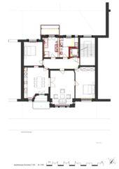 Grundriss 1.OG Wohnhaus Apollostrasse  von Andreas Meier Architekt