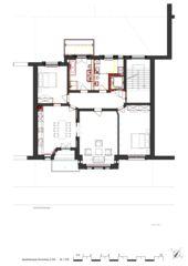 Grundriss 2.OG Wohnhaus Apollostrasse  von Andreas Meier Architekt