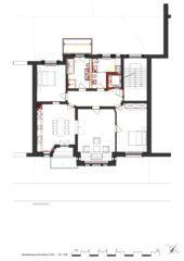 Grundriss 3.OG Wohnhaus Apollostrasse  von Andreas Meier Architekt