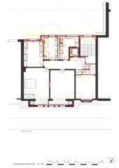 Grundriss 4.OG Wohnhaus Apollostrasse  von Andreas Meier Architekt