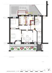 Grundriss EG Wohnhaus Apollostrasse  von Andreas Meier Architekt