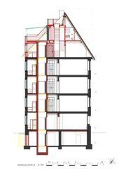 Schnitt Lift Wohnhaus Apollostrasse  von Andreas Meier Architekt