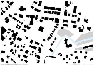 Schwarzplan Erweiterung Bürgerhaus von Dipl.Architekt ETH/SIA<br/>