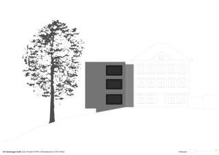Ostfassade Erweiterung Bürgerhaus von Dipl.Architekt ETH/SIA<br/>