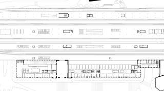 Grundriss Obergeschoss Gare de Cornavin von Itten+Brechbühl SA