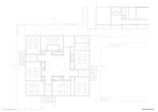 plan rez-de-chaussée Primarschule Kappel de Lorenz Architekten