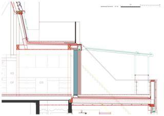 Schnitt DG 1:20 Wohnhaus Apollostrasse  von Andreas Meier Architekt