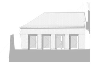 Ansicht der Fassade zum Schlosshof Erweiterung Museum Schloss Werdenberg von bbk Architekten AG