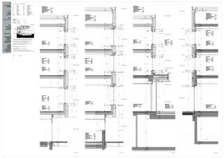 Coupes de façade Neubau Wohnheim Sonne Rehetobel AR de Dipl.Architekt ETH/SIA<br/>