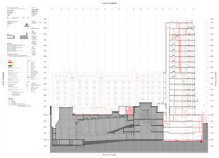 Schnitt BB Complexe Bel-Air von CCHE Lausanne SA