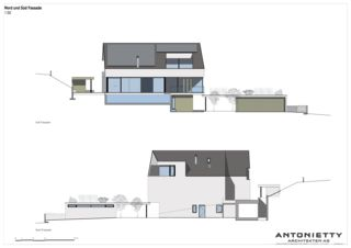 Nord- und Südfassade Villa in Risch von Dipl. Architekten FH/SIA<br/>