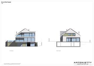 Ost- und Westfassade Villa in Risch von Dipl. Architekten FH/SIA<br/>
