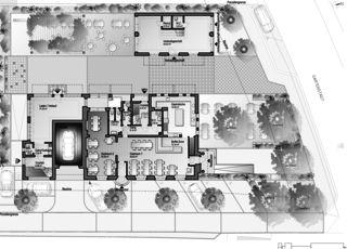 Gartenstadt rez-de-chaussée et environnement Restaurant mit Wohnungen de Architektur Rolf Stalder AG