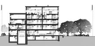 Gartenstadt coupe B-B Restaurant mit Wohnungen de Architektur Rolf Stalder AG