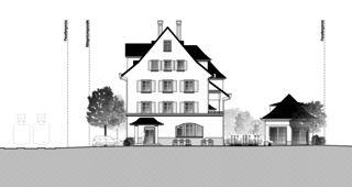 Gartenstadt vue nord Restaurant mit Wohnungen de Architektur Rolf Stalder AG