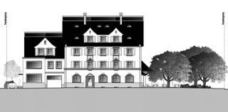 Gartenstadt vue est Restaurant mit Wohnungen de Architektur Rolf Stalder AG