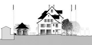 Gartenstadt vue sud Restaurant mit Wohnungen de Architektur Rolf Stalder AG