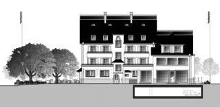 Gartenstadt vue ouest Restaurant mit Wohnungen de Architektur Rolf Stalder AG
