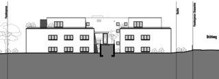 Façade nord Neubau Mehrfamilienhäuser am Rebberg de Architektur Rolf Stalder AG